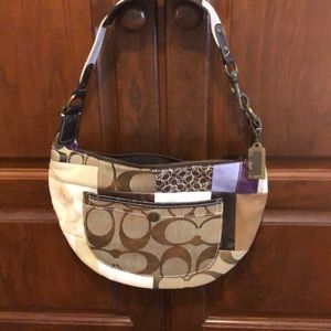 """Coach leather bag really cute! Size 12"""" x 8.5"""""""